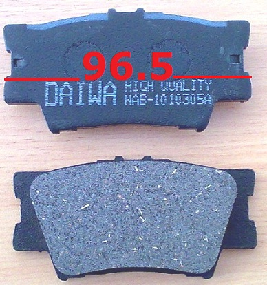 Toyota Rav4 2003-2007 Camry Balata Disk Arka 96.5mm  (Brake Pads Rear)