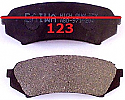 Toyota Landcruiser 100 / 200  98-07-12 Balata 123mm Fren Stop Arka (Brake Pads Rear)