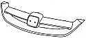 HONDA CIVIC ES 00-04 Pancur (Grille)