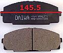 Toyota Hiace Balata 145.5mm Fren Stop On (Brake Pads FR)
