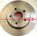 Ford Focus C-max 1998-2005 Disk Arka (Discs Rear)