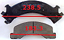 Isuzu ELF NKR NQR- Balata 238.5mm Fren Stop On (Brake Pads Front)