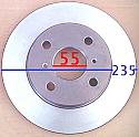 Toyota Vitz Corolla Spacio Disk 235x55x44 (Discs Front)