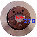 Ford Connect Disk Arka Fren 278x63x54 (Discs Rear)