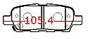 Nissan Balata 105.4mm Murano X-Trail Arka (Brake Pads Rear)