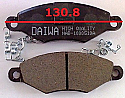 Peugeot 206 Toyota Yaris Balata 130.8mm Fren Stop On (Brake Pads FR) (CLONE)