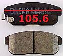 Mazda RX8 Balata 105.6mm Fren Stop Arka (Brake Pads RR)