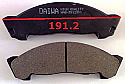 Isuzu ELF NHR NKR 43 46 93-96 Balata 191.2mm Fren Stop On (Brake Pads FR)