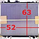 Mitsubishi Pajero Shogun 91-99 4M40 Radyator Yuk 63 x Gen 52 (Radiator AT MT)