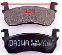 Nissan March Micra 93- Balata 108mm Fren Stop On (Brake Pads Front)