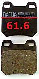 Opel Balata 61.6mm Fren Stop Arka (Brake Pads Rear)